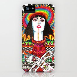 neon geisha iPhone Case