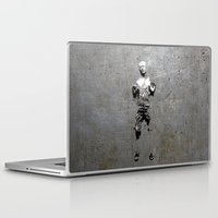 han solo Laptop & iPad Skins featuring Han Solo Carbonite by Inara