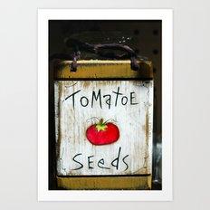 Tomatoe Seeds Art Print
