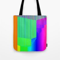 pivot Tote Bags featuring R Experiment 5 (quicksort v3) by X's gallery