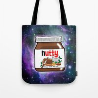 nutella Tote Bags featuring NUTELLA by SteffiMetal