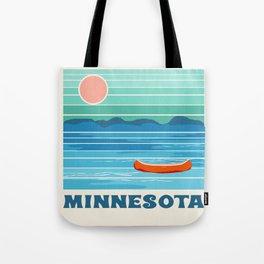 Minnesota travel poster retro vibes 1970's style throwback retro art state usa prints Tote Bag