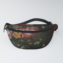 "Rachel Ruysch ""Roses, Convolvulus, Poppies, and Other Flowers in an Urn on a Stone Ledge"" Fanny Pack"