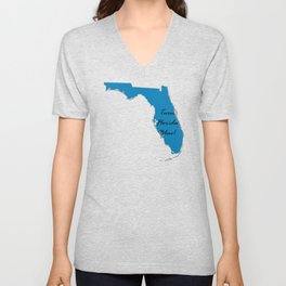 Turn Florida Blue! Vote Proud Democrat Liberal! 2018 Midterms Unisex V-Neck