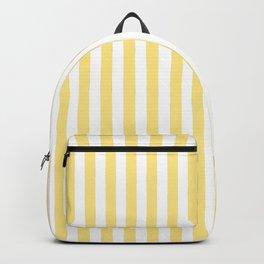 Modern geometrical baby yellow white stripes pattern Backpack