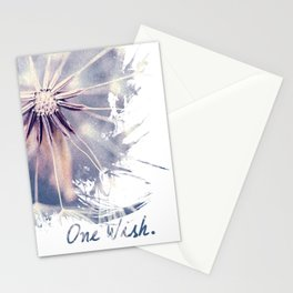 Dandelion Blue Graphic - Vertical Stationery Cards