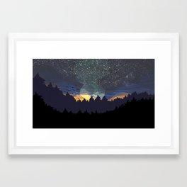 Dark-Sky Preserve Framed Art Print
