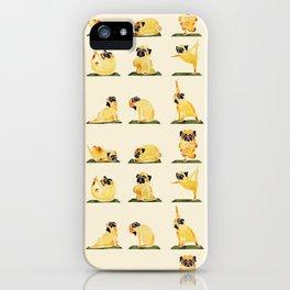 Pug Yoga Watercolor iPhone Case