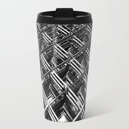 Rebar On Rebar - Industrial Abstract Travel Mug