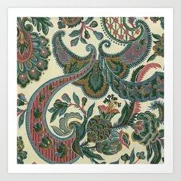 Eleganza Paisley Floral Art Print