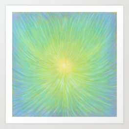 Radiance in Greens Art Print