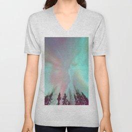 Deep Pastel Aurora Borealis Unisex V-Neck