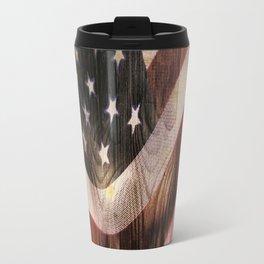 AMERICAN FLAG WOODEN Travel Mug