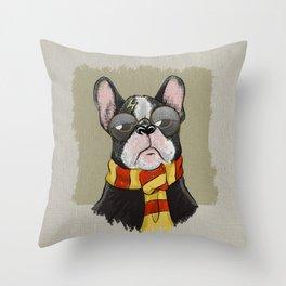 Harry Dogtter Throw Pillow