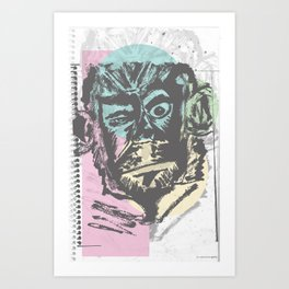 Monkey Sketch Art Print
