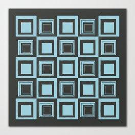 Blue Squares Canvas Print