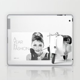 Audrey Glamour in Vespa Laptop & iPad Skin