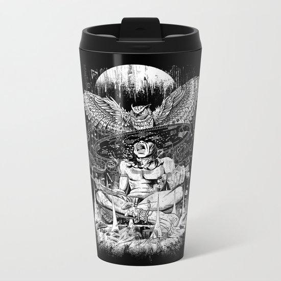 Spirit Owl Metal Travel Mug