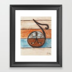 A note of my scale Framed Art Print