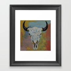Bison Skull Framed Art Print