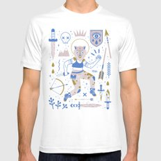 The Warrior White Mens Fitted Tee MEDIUM