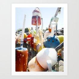 buoys photography Art Print