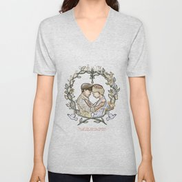 """Illustration from the video of the song by Wilder Adkins, """"When I'm Married"""" (no names on it) Unisex V-Neck"""