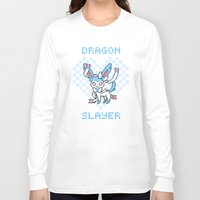 sylveon Long Sleeve T-shirts featuring 8-Bit Shiny Sylveon by einjelato