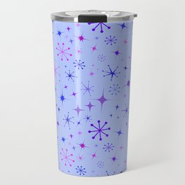Atomic Starry Night in Purple Travel Mug