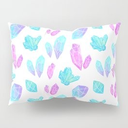 Pastel Watercolor Crystals Pillow Sham