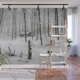Shack in the Snow Wall Mural