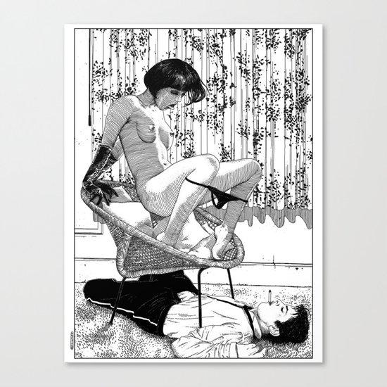 asc 518 - L'immobilisation (The entrapment) Canvas Print