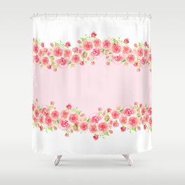 Garlands from Pink Roses Shower Curtain
