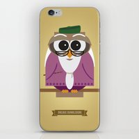 dumbledore iPhone & iPod Skins featuring Owlbus Dumbledore by Famous Owls