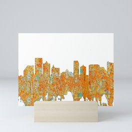 Atlantic City Skyline - Rust Mini Art Print