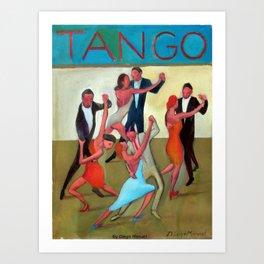 Mundial de tango por Diego Manuel Art Print
