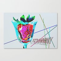 strawberry Canvas Prints featuring Strawberry by LoRo  Art & Pictures