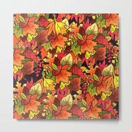 Leaf Pile Metal Print