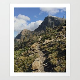 Swiftcurrent Pass Trail in Glacier National Park Art Print