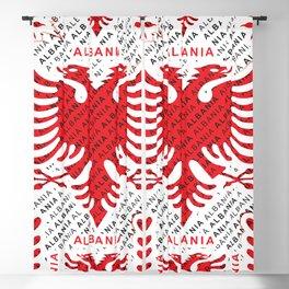 Albanian flag pattern 4 Blackout Curtain