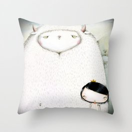 My monster & I Throw Pillow