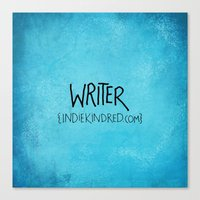 writer Canvas Prints featuring Writer by Indie Kindred