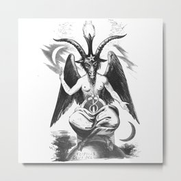 Baphomet - Satanic Church Metal Print