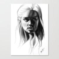 targaryen Canvas Prints featuring Daenerys Targaryen by Taylor Barron