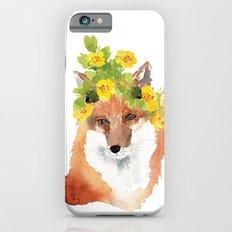 fox with flower crown iPhone 6s Slim Case