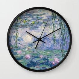 Water Lilies Claude Monet Fine Art Wall Clock