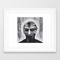 mf doom Framed Art Prints featuring MF DOOM by Lindsay Derer