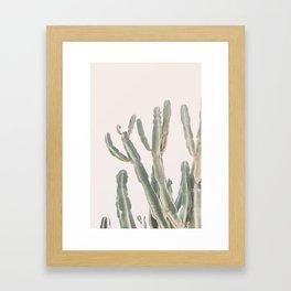 Sunrise Cactus Framed Art Print