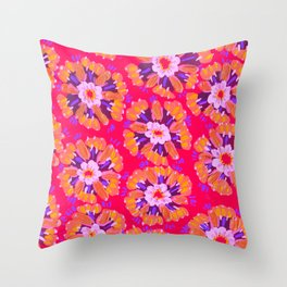 Neon Dakota Rose Throw Pillow