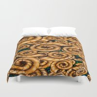 shells Duvet Covers featuring Shells by Marven RELOADED